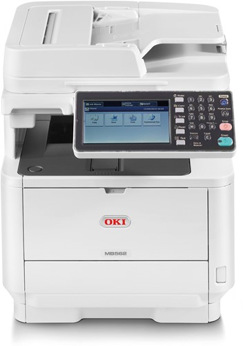 OKI MB492dn A4 all in one LED printer met touchscreen