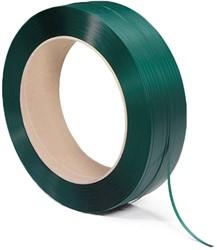 Omsnoeringsband groen 16mm PET 2000m