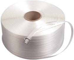 Omsnoeringsband wit 12mm PP 2500m