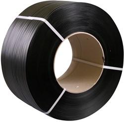 Omsnoeringsband zwart 12mm PP 2000m
