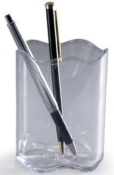 Pennenbakje transparant golvende rand