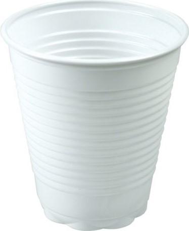 Plastic beker 180CC wit 30x100 stuks
