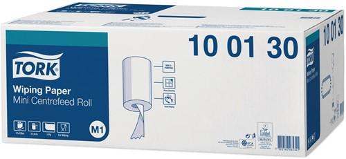 Poetspapier voor Tork M1 mini dispenser 1-laags