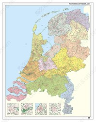 Postcodekaart Nederland 1-2-3- cijferig