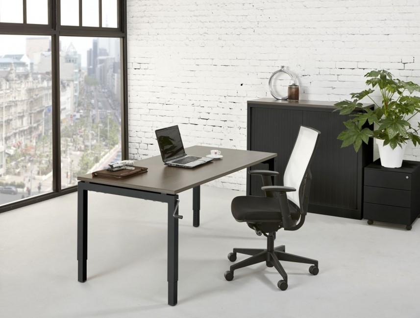 In hoogte verstelbaar bureau 180x80cm proline quad4 bij pro office