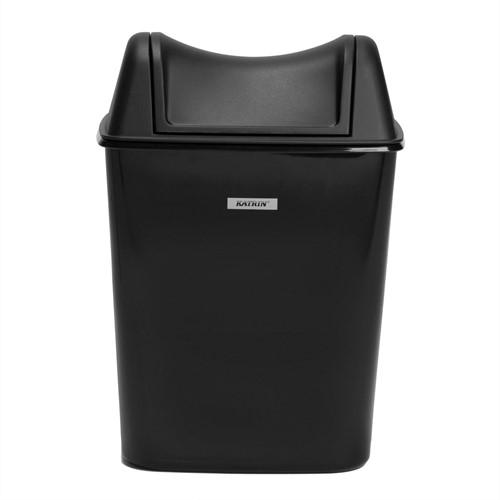 Prullenbak voor toilet en sanitair  8 liter zwart Katrin