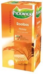 Pickwick thee, rooibos en honing, pak van 25 stuks