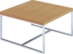 Salontafel voor kantoor of entree met aluminium frame 70x70cm