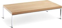Eikenhouten salontafel voor kantoor of entree 120x60cm