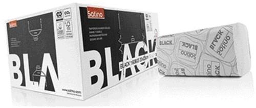 Satino Black handddoekjes 25 x 23cm 2-laags zigzag pak van 3.200 stuks