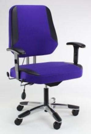 Extra Brede Bureaustoel.Bureaustoel Voor Zware Mensen Score Maxx Go L Trevira Grijs D04