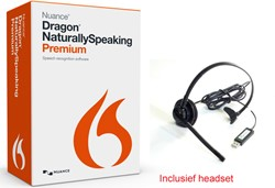 Spraakherkenningssoftware Dragon NaturallySpeaking Premium 13.0