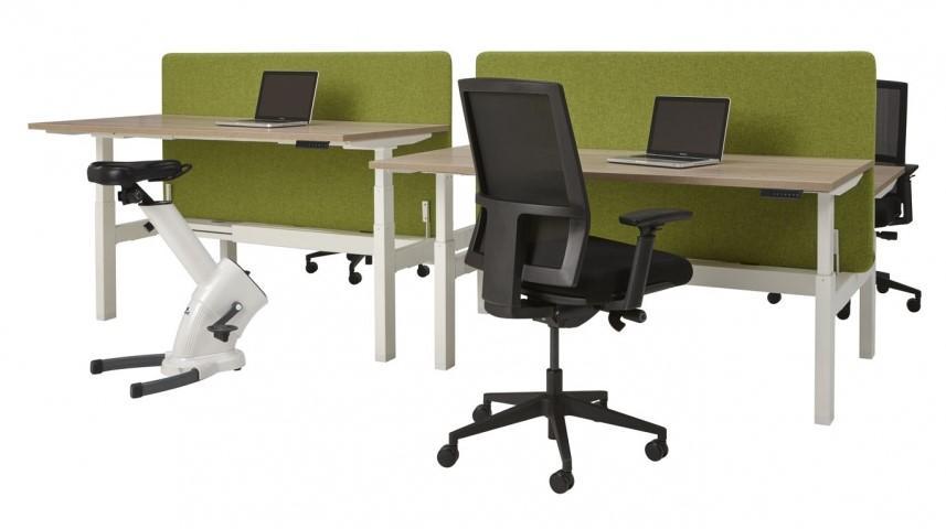 Elektrisch Verstelbaar Zit Sta Bureau.Zit Sta Bureau Elektrisch Verstelbaar 2 Werkplekken 120x165cm
