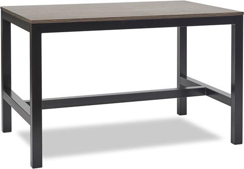 hoge tafel solid industrieel - 120x60cm - transparant - licht eiken