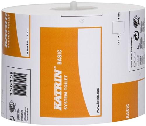 Toiletpapier voor dispensers Basic 1-laags
