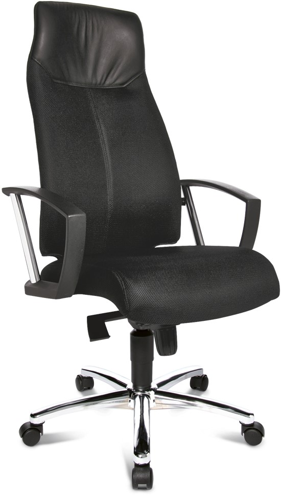 Bureau Stoel Luxe.Bureaustoel Topstar High Sit Up Vaste Armsteun A1 Oranje Bg4 Bij