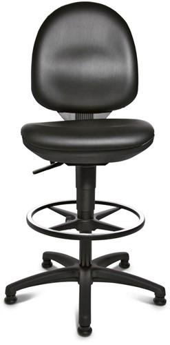 Hoge Bureau Stoel.Hoge Bureaustoel Topstar Tec50 Medium 50 69cm Wit Kunst Leder