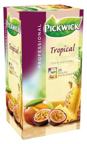 Pickwick thee tropische vruchten pak van 25 stuks