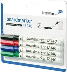 Viltstift Lega TZ140 whitebord 4 kleuren
