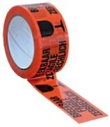 Breekbaar tape 50mmx60m oranjezwart pak 6 rol