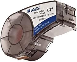 Vinyltape Brady 19mm wit op rood