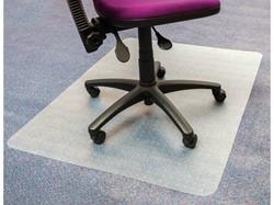 Vloerbeschermer transparant 120x150cm voor tapijtvloeren