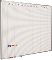 Whiteboard weekplanner met dubbel weekoverzicht 90x120cm