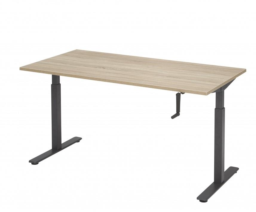 Zit sta bureau verstelbaar met slinger 180x80 bij pro office for Bureau zit sta