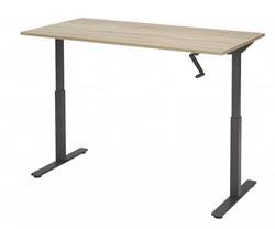 Verstelbaar zit sta bureau 140x80cm met zwengel