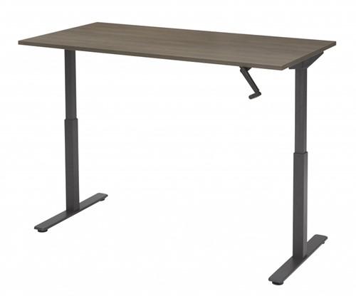 Zit sta bureau slinger verstelbaar 160x80cm - Zwart - Robson Eiken