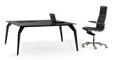 Glazen bureau design Actium Quattro